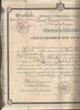 România, Liceul Dinicu Golescu, Câmpulung, certificat de absolvire, 1920