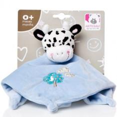 Plus Bebe Vacuta 26 cm cu Paturica si Zornaitoare Albastru
