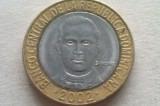MONEDA 5 PESOS 2002-REPUBLICA DOMINICANA