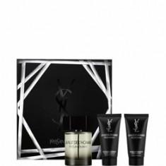 Set cadou Yves Saint Laurent La Nuit de L'Homme (Apa de toaleta 100 ml+ After shave balsam 50 ml+ Gel de dus 50 ml ), pentru barbati