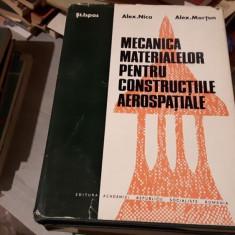 Mecanica materialelor pentru constructiile aerospatiale – St. Ispas, Alex. Nica, Alex. Mortun