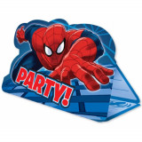 Invitatii de petrecere cu Spiderman, Amscan 999280, Set 8 buc