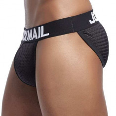 Sexy Chiloti Jockstrap Barbati JockMail Push Up Suspensor Boxeri Mesh Open Side