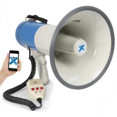 Vexus MEG055 megafon 55W Bluetooth USB SD MP3 microfon înregistrare funcționare. foto