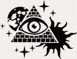 Sticker Auto Piramida Ochi Soare Luna