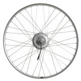 """Roată spate bicicletă electrică 28"""" perete dublu nexus argintiu, Elops"""