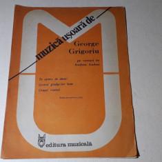Partituri muzica usoara George Grigoriu pe versuri de Andrea Andrei