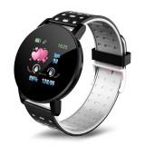 Cumpara ieftin Ceas Smartwatch Techstar® 119 Gri, 1.3 inch IPS, Monitorizare Cardiaca, Tensiune. Oxigenare, Sedentary, Bluetooth, IP65