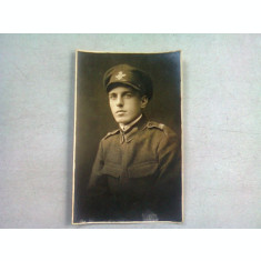 FOTOGRAFIE TIP CARTE POSTALA, BUST DE MILITAR, ANII '20
