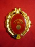 Insigna Garzi Patriotice GP ,metal aurit si email ,h= 4,5cm