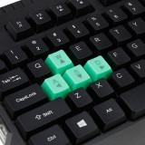 Tastatura gaming USB, iluminata LED verde, 104 taste, Shadow Esperanza