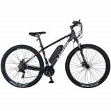 Bicicleta Electrica MTB Carpat C1002E, 21 Viteze, Roti 29inch, Cadru Aluminiu, Frane Mecanice Disc, Autonomie 60-80 Km, Viteza 25 km/h, Motor 250W (Ne