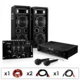 """Electronic-Star SET PA DJ """"DJ-24M"""" Amplificator-Mixer-Boxe-Microfon 1200W"""