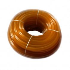 Furtun silicon striat, 1/1, 50 m, circumferita 24 cm, Portocaliu