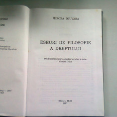 ESEURI DE FILOSOFIE A DREPTULUI - MIRCEA DJUVARA