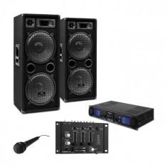 "Electronic-Star SET PA DJ ""DJ-27""- Amplificator Boxe PA 2000W USB SD MP3"