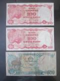 Lot 3 bancnote Indonesia/Indonezia