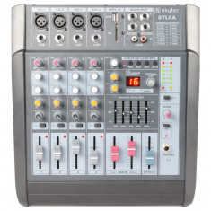 Powermixer Skytec STL6A,240W RMS,6 canale, SD/USB/MP3 efecte
