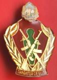 Insigna militar rara Tragator de elita, armata, comunism, colectie RSR