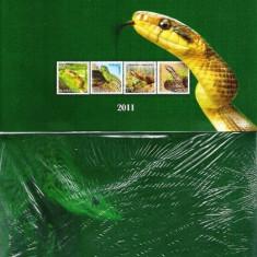 ROMANIA 2011 - ALBUM  FILATELIC - REPTILE DIN ROMANIA  - LP 1887 c