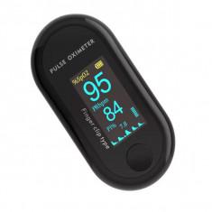 Pulsoximetru digital iUni V10, Pulsometru, Rata pulsului, Indica nivelul de saturatie a oxigenului din sange, OLED