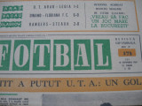 Revista FOTBAL (nr.173 / 18 09 69), UTA-Legia 1-2, Rangers-Steaua 2-0, Bacau 2-0