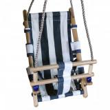 Cumpara ieftin Leagan pentru copii, textil/lemn,albastru, max 70 kg, 36x24x45 cm, Strend Pro