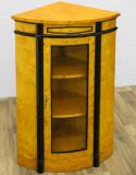 Vitrina de colt Art Deco din lemn masiv furniruit cu artar CAT-GM11