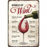 Placa metalica - World of Wine - 20x30 cm