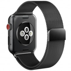 Curea otel inoxidabil Tech-Protect Milaneseband Apple Watch 1/2/3/4 (42/44mm) Black