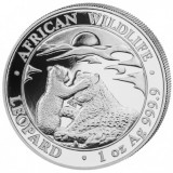 Moneda argint 999 lingou, Leopard Somalia 2019 , 1 uncie = 31 grame