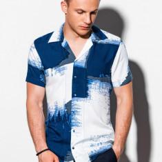 Camasa premium cu maneca scurta K554 - albastru