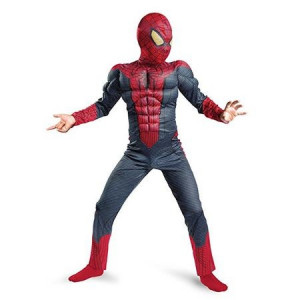COSTUM SPIDERMAN TIP SALOPETA CU MUSCHI+BONUS ARMA CU MANUSA SPIDERMAN.SUPER !