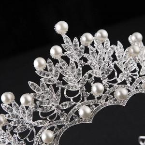 Diadema / tiara / coroana mireasa White Pearl