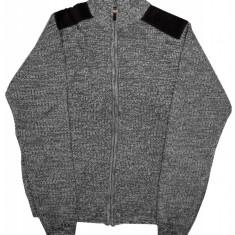 Pulover barbat tricotat Urban Release, cu fermoar, Gri/Negru