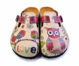 Cumpara ieftin Saboti dama Owl 39 - Calceo, Multicolor