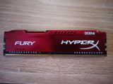 Memorie Kingston HyperX Fury Red 8GB DDR4 2666MHz CL16