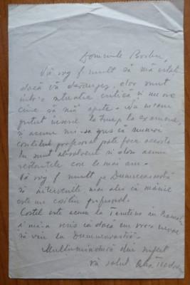 Scrisoare Al. O. Teodoreanu , Pastorel foto