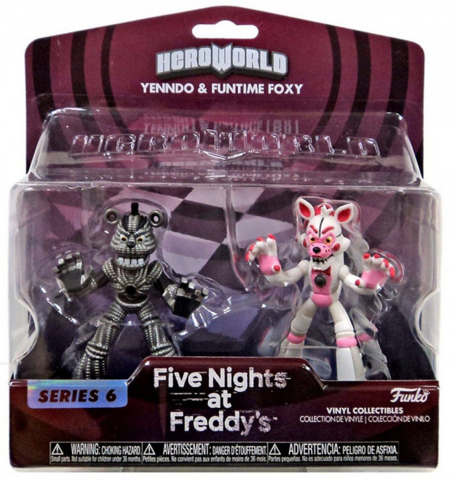Set 2 figurine Hero World: Lolbit & Yenndo Five Nights at Freddy`s FNAF