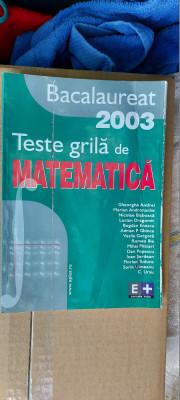 TESTE GRILA DE MATEMATICA BACALAUREAT GHIOCA ,SERDEAN ,URSU , ENESCU foto