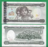 = ERITREA - 5 NAKFA – 1997 - UNC   =