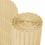 Cumpara ieftin Panou Trestie Artificiala pentru Mascare Gard, Culoare Bambus, Dimensiune 100x300 cm