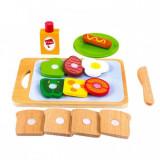 Set mic dejun din lemn Ecotoys SAWT18261