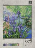 Goblen Iris 078 , kit goblen imprimat pe panza