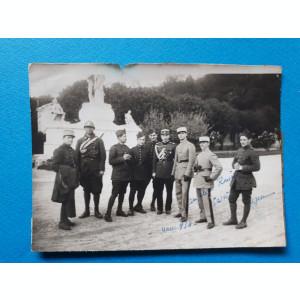 POZA veche GRUP MILITARI ROMANI SI FRANCEZI IN Franta ×  1930