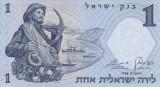ISRAEL █ bancnota █ 1Lira █ 1958 █ P-30c █ UNC █ necirculata