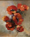 Tablou ulei (25/30 )-MACI, Flori, Impresionism