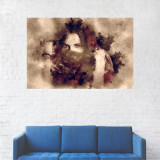 Tablou Canvas, Pictura, Femeia cu esarfa - 60 x 90 cm