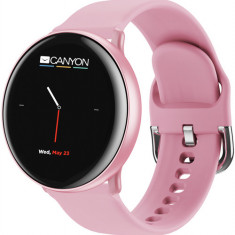 Smartwatch Canyon Marzipan, Display IPS 1.22inch, 64KB RAM, 64MB Flash, Bluetooth, Carcasa Aluminiu, Bratara Silicon, Rezistent la apa, Andorid/iOS (R