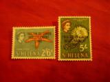 2 Timbre Tristan da Cunha 1963 supratipar pe timre St.Elena - R.Elisabeta